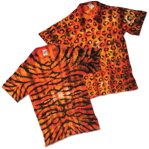 Animal Print Resist-Dyed T-Shirts - Project #123