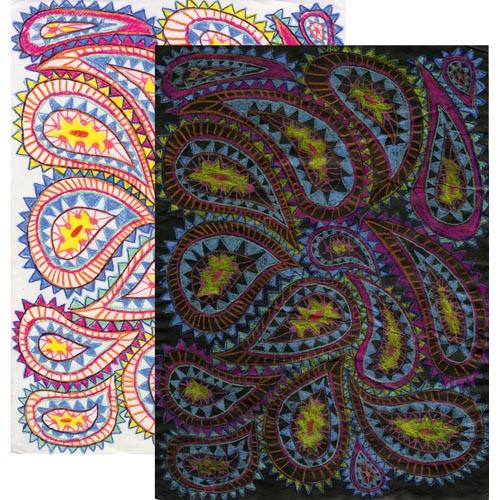Prismacolor Pencil Paisley Resist - Project #162