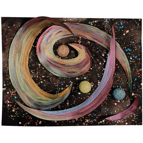 Mixed Media Galaxy Collage - Project #163