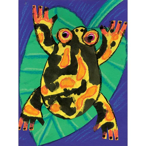 Ink Blot Dart Frog Collage - Project #166