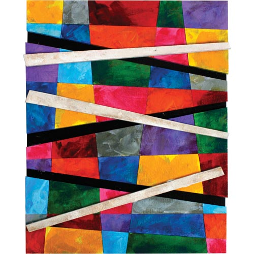 Cut Edge Geometric Abstract Painting - Project #172