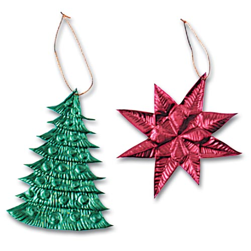 Two-Tone Tooling Foil Ornaments - Project #18