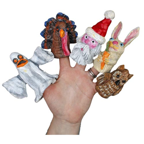 Pinch Pot Finger Puppets - Project #201