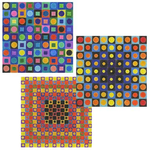 Vasarely-Inspired Op Art - Project #203