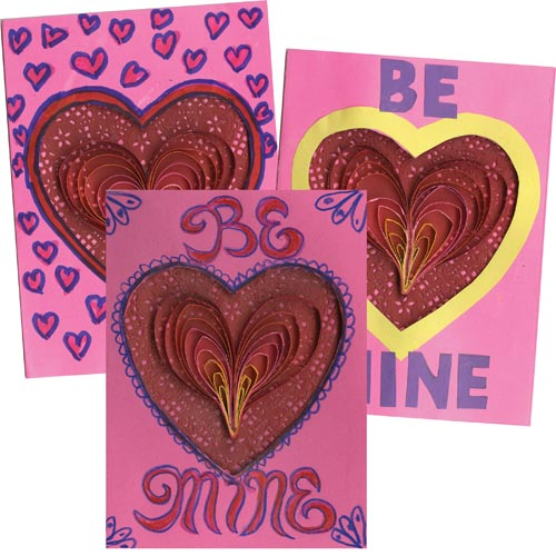 Quilled Valentine Card - Project #230