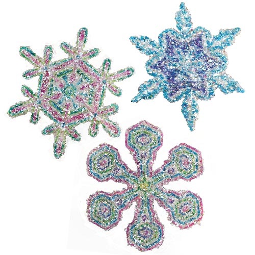 Disco Glitter Snowflakes - Project #29