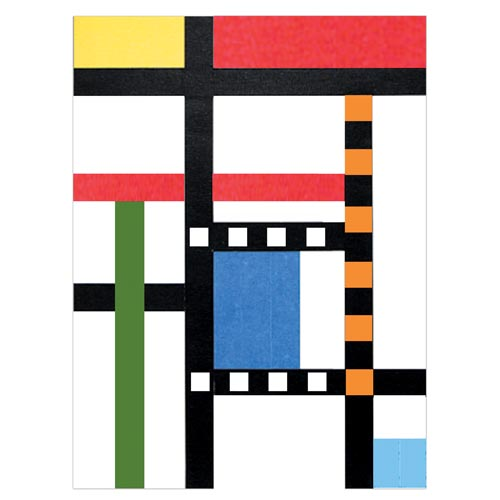 Mondrian-Inspired Masking Tape Art - Project #30
