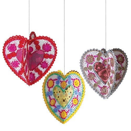 Valentine Heart Doily Ornaments - Project #34