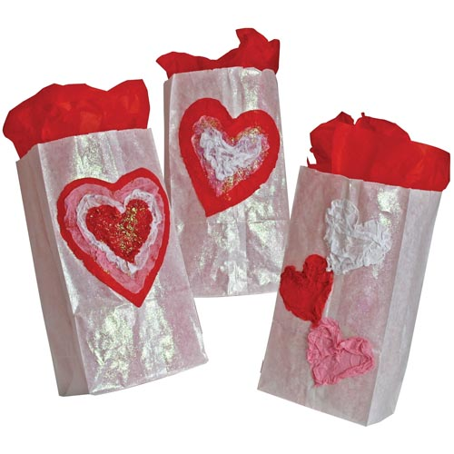 Valentine Crumpled Heart Bag - Project #38