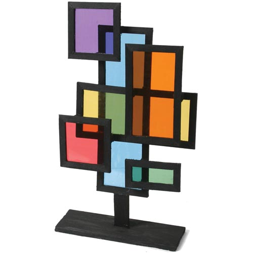 Balsa & Cellophane Stained Glass Sculpture - Project #82