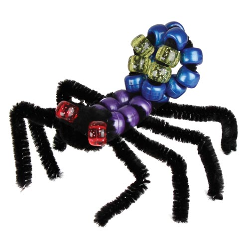 Pony Bead & Chenille Stem Halloween Spider - Project #9